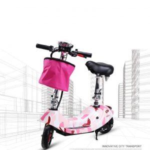 Xe đạp điện mini phiên bản màu hồng loang